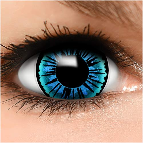 Farbige Maxi Sclera Kontaktlinsen Lenses Engel inkl. Behälter - Top Linsenfinder Markenqualität, 1Paar (2 Stück)