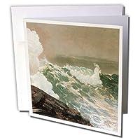 BLN American Art Fineアートコレクション–ノーイースターby Winslow Homer–グリーティングカード Set of 12 Greeting Cards