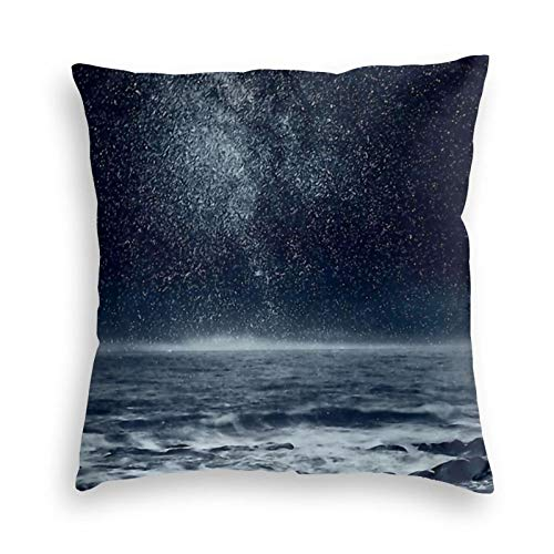 Ryuji The Dreaming Ocean Throw Pillow Covers Cozy Square Throw Pillowcases Home Decoration for Bed Couch Sofa Living Room Cushion Covers 18'X18'