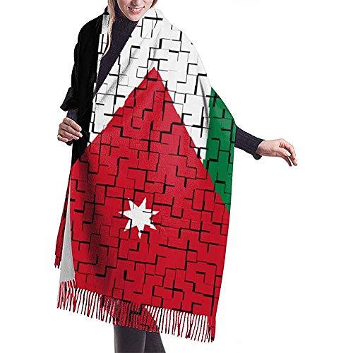 Unisex Sjaal, Jordanië Vlag Puzzel Vrouwen Sjaal Wrap Voor Mountain Hardlopen Paard Rijden