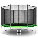 CalmMax Trampolines 12FT Jump Recreational Trampolines with Enclosure Net - ASTM Approved - Combo Bounce Outdoor Trampoline for Kids Family Happy Time