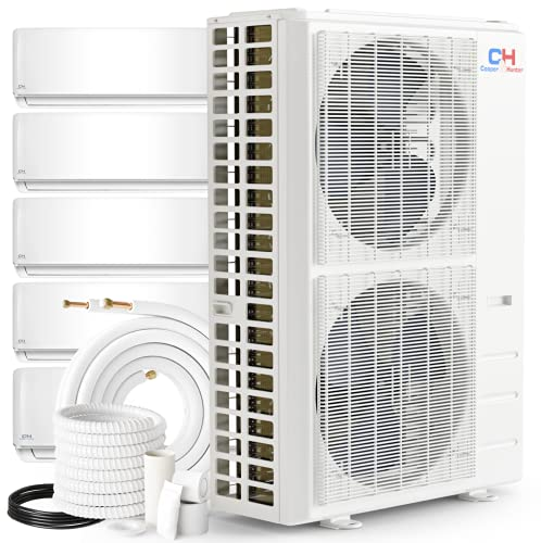 Penta 5 Zone 9000 9000 12000 12000 18000 Ductless Mini Split Air Conditioner Heat Pump System Pre-Charged Inverter Compressor With 5 Installation Kits