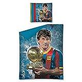 FCB FC Barcelona Ropa de Cama 140x 200+ 70x 80cm, Lionel Messi, One soze