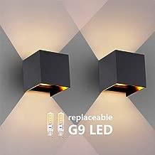 Ranex Ebony DEL Extérieur Lampe Murale éclairage Lampe murale Up /& Down