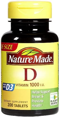 Vitamin D3, 300 Softgels, Vitamin D 1000 IU (25 mcg) Helps Support Immune Health, Strong Bones and Teeth, & Muscle Function, 125% of the Daily Value for Vitamin D in Only One Daily Softgel