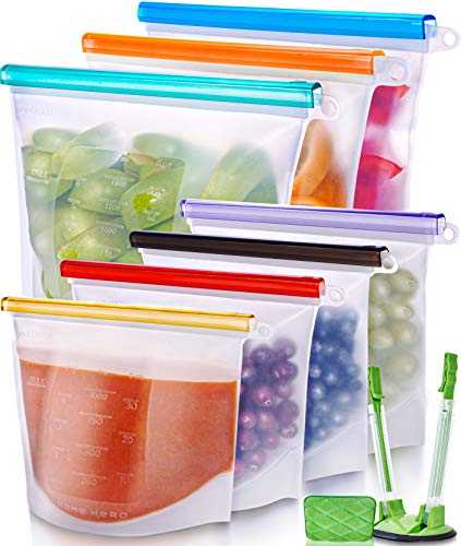 Reusable Silicone Food Bags by Home Hero