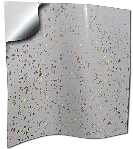 20 stück Grauer funkelnder holografischer Brokat Silber Chrom Spiegel Glitzer Fliesenaufkleber für Küche und Bad Wandfliese Aufkleber für 15x15cm Fliesen Fliesen-Aufkleber Folie Farbe für Küche u. Bad