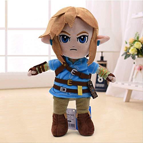 Youhj Zelda Plush Toys Boy With Sword Cartoon Soft Stuffed Doll For Kids Christmas Best Gift 28Cm