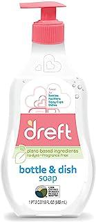 Baby, Bottle and Dish Soap by Dreft, Removes Milk Film & Odor, Plant Based, Fragrance Free, 18 Fl Oz (Pack of 1)