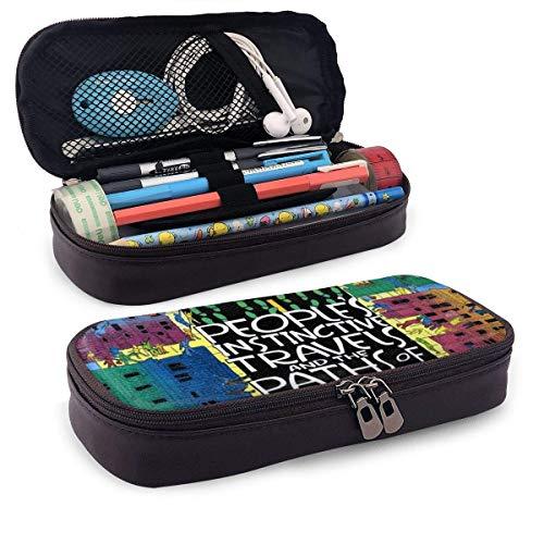 Ein spezielles Poster Leder Bleistiftetui Beutel mit Reißverschluss Pen Pencil Case Box Schulmaterial, Schreibwarenbox mit großer Kapazität