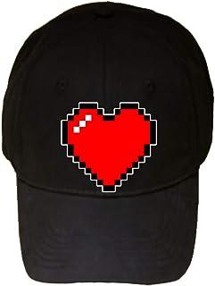 8-Bit Heart Video Game - 100% Cotton Adjustable Hat