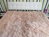 Reissner Lammfelle Tibet Lammfell Bettauflage Couchauflage 190x190cm JAY04 Farbe hell beige