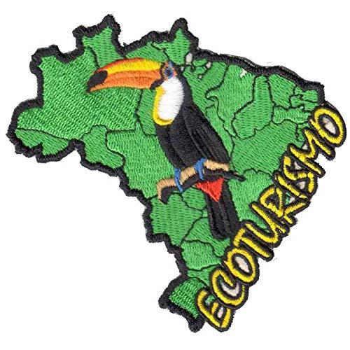 Patch Bordado - Trilha Ecologica Ecoturismo Tucano AD30148-09 Termocolante