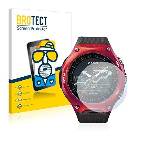 BROTECT 2X Entspiegelungs-Schutzfolie kompatibel mit Casio WSD-F10 Bildschirmschutz-Folie Matt, Anti-Reflex, Anti-Fingerprint