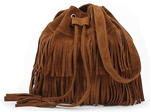 DIMENSION: 13.0 x 11.4 x5.1 inch (L x H x T),Strap Length: 43.3inch (Can be adjustable ). DESIGN:tassel crossbody bag . Boho , hippie , hobo style DECORATION: Tassels.Fashion, lovely and special. This crossbody collection handbags for women is very f...