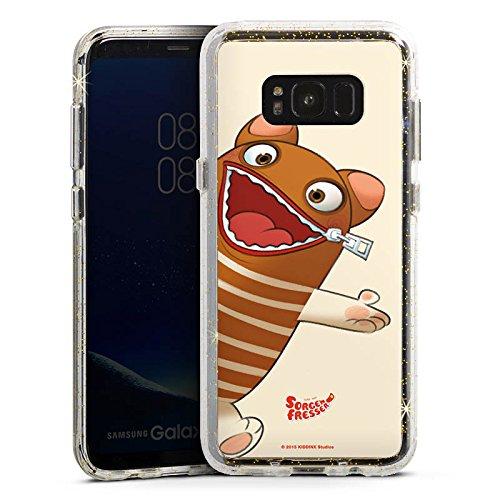 DeinDesign Samsung Galaxy S8 Bumper Hülle Bumper Case Glitzer Hülle Sorgenfresser Enno Fan Article Merchandise