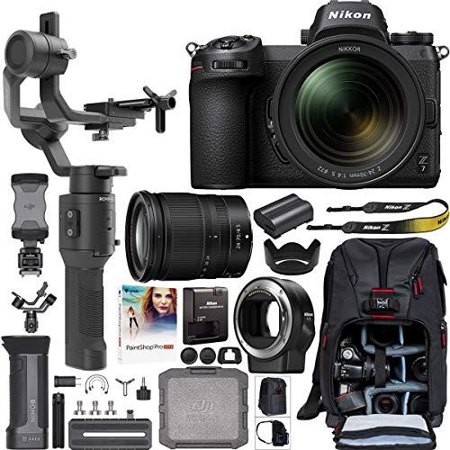 Nikon Z7 Mirrorless Full-Frame 4K Camera 1598 Filmmaker's Kit with 24-70mm f/4 S Lens + DJI Ronin-SC 3-Axis Handheld Gimbal...
