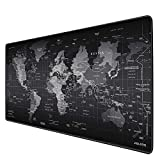 JIALONG Gaming Mouse Pad Large Size 35.4 X 15.7X 0.12inches Desk Mousepad with Personalized Design for Gaming and Office - Black World Map