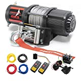 FIERYRED 12V 4500LBS Electric Steel Cable ATV Winch Kits for Towing ATV/UTV Off...