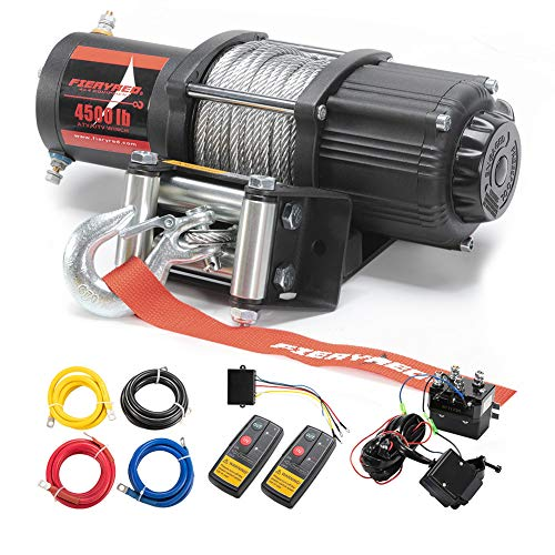 Cheap FIERYRED 12V 4500LBS Electric Steel Cable ATV Winch Kits for Towing ATV/UTV Off Road Trailer w...