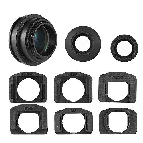 Andoer 1.51X Fixfokus Kamera Sucher Sucherokular Augenmuschel Sucherlupe mit 2 Augenklappen Kompatibel mit Canon Nikon Sony Pentax Olympus Fujifilm Samsung Sigma Minoltaz DSLR-Kamera