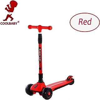دراجة كول بيبي ذات العجلات الثلاث عجلات للأطفال بنين بنات ارتفاع قابل للتعديل أفضل الهدايا للأطفال من سن 3 إلى 12 سنة 665-...