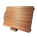 DROMEZ Mesa de Corte Madera, Tabla de Cortar Premium con Mango, Tabla para Cocina Reversible para Carnes Picar Servir Trocear,20x33x2.5cm