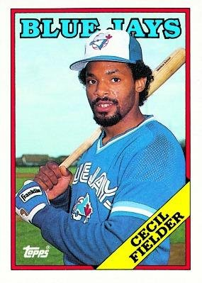1988 Topps #618 Cecil Fielder - Toronto Blue Jays (Baseball Cards)