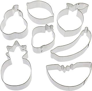 Fruit Cookie Cutter 7 Pc Set HS0438-2.75 in Lemon, 3.25 in Pear, 3.5 in Watermelon, 3.5 in Peach, 2.5 in Strawberry, 4 in ...