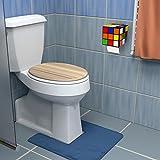 getDigital Zauberwürfel WC Rollenhalter - Ausgefallener Halter im Stil des 80s Magic Cube mit Deckel und Ablage - Befestigung ohne Bohren 14 x 14 x 14cm - 2