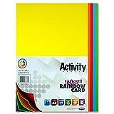 Premier Stationery, risma di cartoncino per varie attività, formato A3, 160 g/mq, colore arcobaleno, confezione da 50 fogli