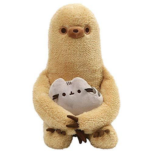 GUND Pusheen with Sloth Plush Stuffed Animal, Set of 2, Multicolor, 13'