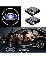Deur van de auto Led Logo Projector, gemakkelijk te installeren for Ford auto embleem 2Pcs Wireless Welkom Lampen Car Styling Decoratie hulpmiddelen 909