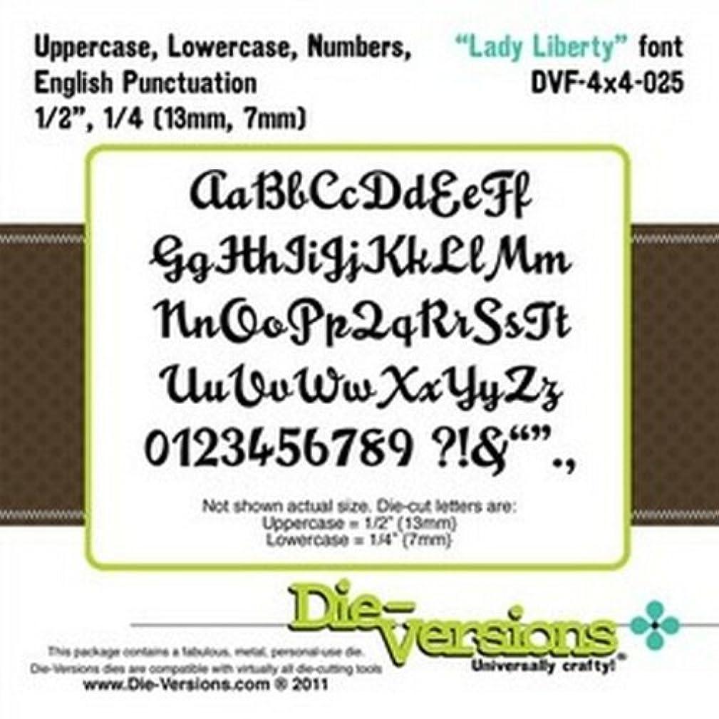 Die-Versions - Fonts - Lady Liberty Scrapbooking Die Cuts
