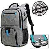 17.3 inch Laptop Backpack, Large Capacity Laptop Backpacks for Men & Women with USB Charging Port, TSA Checkpoint Friendly Waterproof Laptop Backpack, Business Travel Tablet Backpacks