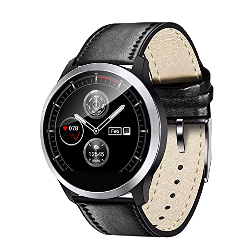 QHG Fitness Tracker, Activity Tracker Monitor de Ritmo cardíaco Monitoreo del sueño Contador de calorías IP68 Pedómetro a Prueba de Agua Pedómetro Reloj Inteligente para Hombres Hombres