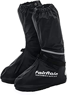 [Eco Ride World] バイク用 レイン ブーツ カバー シューズカバー 靴カバー 防水 滑り止め 安全 防寒 大きめ 黒 ブラック