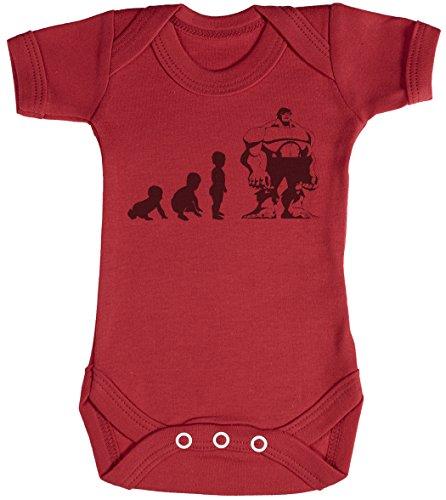 Baby Evolution to A Hulk Body bébé - Gilet bébé - Body bébé Ensemble-Cadeau - Naissance Rouge