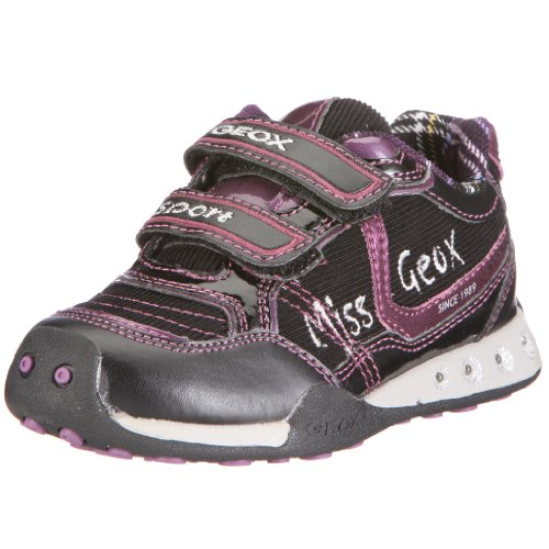 Geox J0310B 5411 C0037  Junior Jocker, Mädchen Sneaker, Schwarz (blk/purple C0037), EU 34