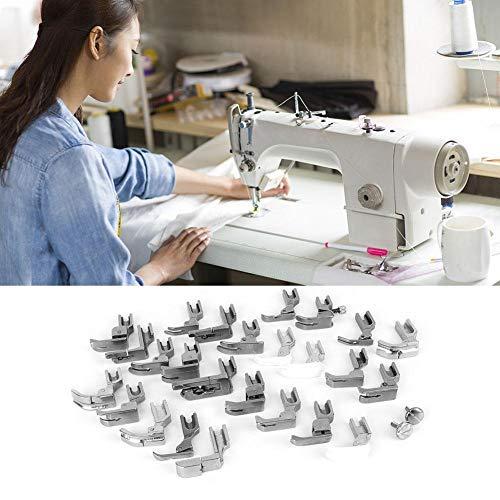 25 unids Pies prensatelas Set Máquina de coser Pie Pie Prensatelas industrial Combinación de coser kit de accesorios de la máquina Set