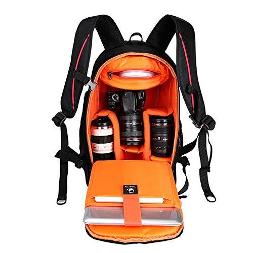 Yamyannie Kamera Tasche Kamera-Rucksack Wasserdicht Fotograf Objektiv Stativ bis 15 Zoll Laptop-Fach Regen-Abdeckung SLR-Fälle (Color : Range, Size : One Size)
