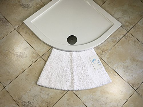 Price comparison product image Cazsplash Quadrant white curved shower mat (Small)