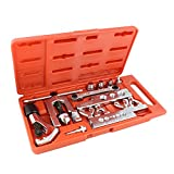 ABN Flaring Tool Set – 10 Piece Flaring and Swaging Tool Kit with Tube Cutter, Brake Line Swage and Tube Flare Kit
