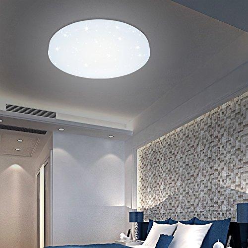 HG, lampada da soffitto 12W LED di colore bianco, rotonda, lampada per il bagno 1x Weiß Starlight Effekt