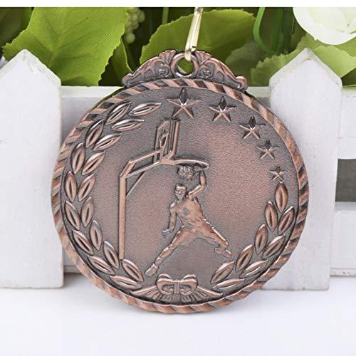 Eeng Medallas de Baloncesto Slam DunkMedalla de Color Dorado y Medalla de Color Plateado yMedalla de Color