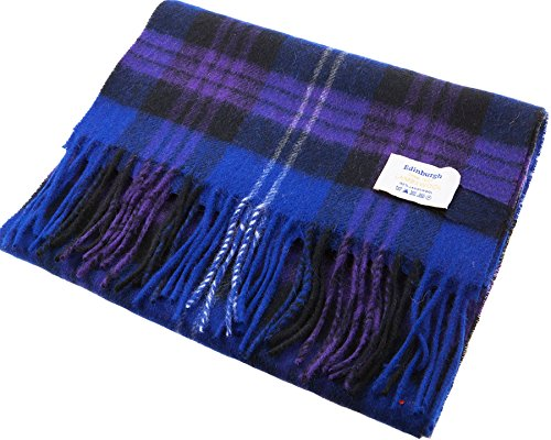 I Luv Ltd Unisex Lambswool Scarf In Heritage Of Scotland Tartan Design 30cm Wide