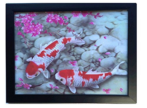 KOI 3D Lenticular Wall Art Poster with Frame Fishes
