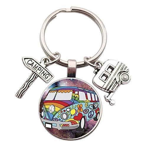 Schlüsselanhänger, Schmuck für die Tasche im Van mit Anhängern für Camping und Wohnwagen (Modell 3)