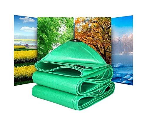 ZLJ Cubierta de Lona de Lona General Impermeable Fuerte Verde para Acampar y Pescar Cubierta para Mascotas de jardinería, 160 g / m2, Grosor 0,4 mm (tamaño: 3x4m)
