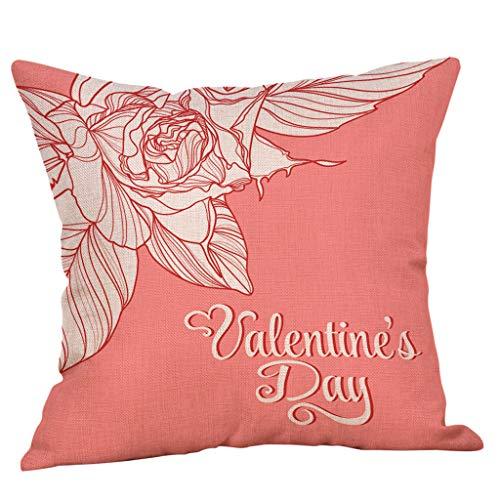 Mamum - Joyeux Housse de Coussin Saint Valentin Taie d'oreiller Amoureux, Housse de Coussin carrée Sweet Valentine's Day Taie d'oreiller Couple (B)